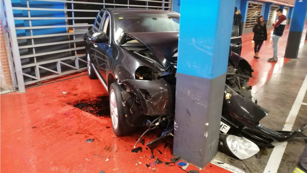Accidente en centro comercial Fuenlabrada