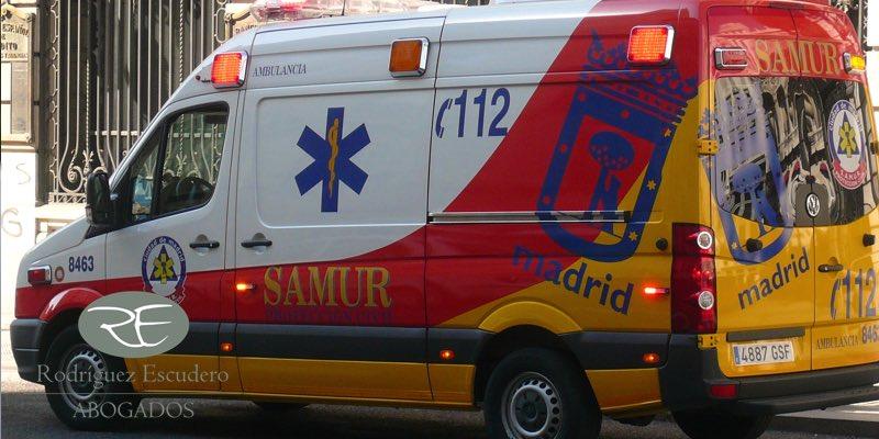 Servicios de emergencia 112. Indemnización por atropello en bicicleta
