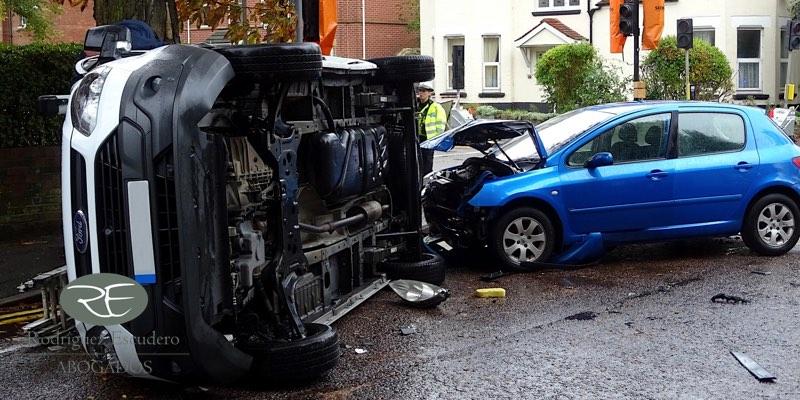 Reclamación de daños accidente de tráfico